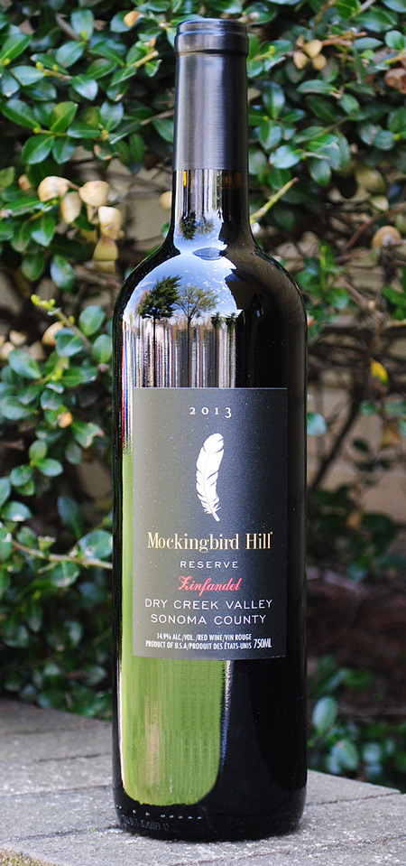 Mockingbird Hill Winery Dry Creek Valley Reserve Zinfandel 2013 By Jim Pedroncelli