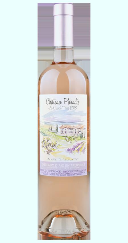 Côteaux d'Aix en Provence Rosé 2018 Château Paradis La Grande Terre