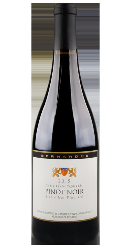 Bernardus Sierra Mar Vineyard Santa Lucia Highlands Pinot Noir 2015
