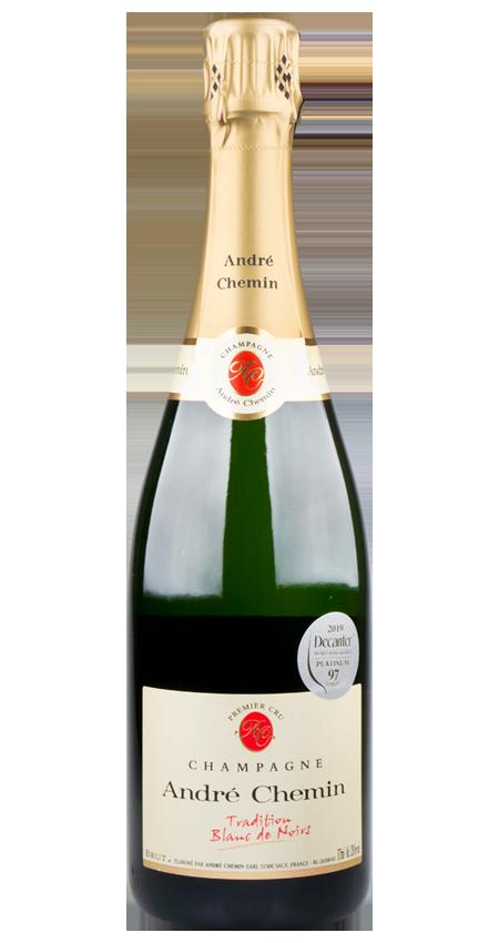 97 Pt. Champagne Premier Cru Blanc de Noirs Brut NV André Chemin Tradition